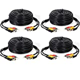 Masione 4 PACK 50ft security camera video audio power cable wire cord cctv dvr surveillance system