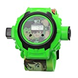 Ben 10 Cartoon images Projector Watch Kids Digital Wrist Watch cartoon character watch