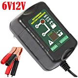 Yishen 6V 12V Battery Charger 1.5A Intelligent Lead Acid Automatic Maintainer 2 in 1 for Car Motorcycle Marine Battery