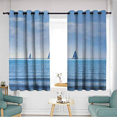 duommhome Nautical Fashion Curtain Racing Yachts on, used for sale  Delivered anywhere in Canada
