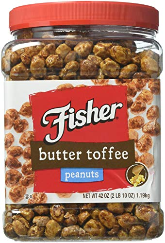 - Fisher Butter Toffee Peanuts - 42 Oz. Cannister