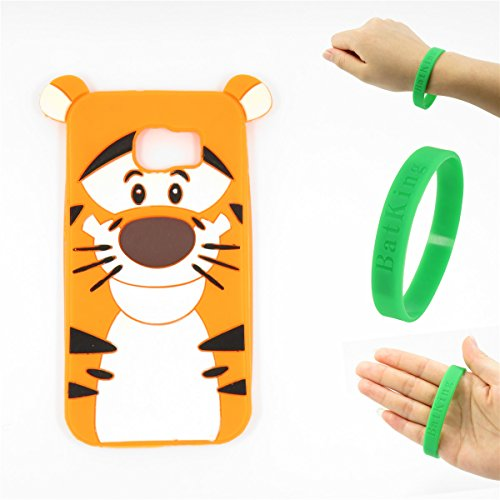S6 Edge Plus Case,Galaxy S6 Edge Plus Cartoon Case,Bat King 3D Cute Cartoon Tiger Soft Silicon Gel Rubber Case Cover Skin for Samsung Galaxy S6 Edge Plus G928 5.7 - Skin Case Rubber