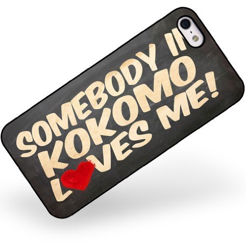 Rubber Case for iphone 5 5s Somebody in Kokomo Loves me, Indiana - Neonblond ()