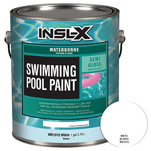 White Pool Paint - INSL-X WR101009A-01 Waterborne Semi-Gloss Pool Paint 1 Gallon White