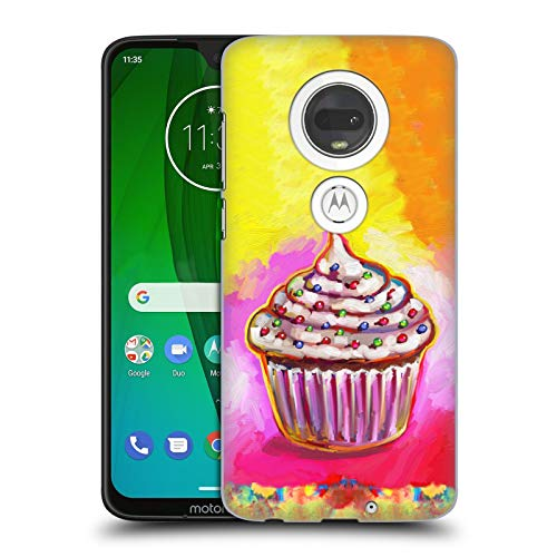 Official Howie Green Cosmic Cupcake Food and Drinks Hard Back Case for Motorola Moto G7