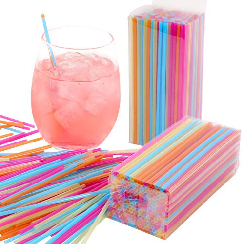 Mr. Kitchen's Bulk Colorful Neon Drink Stirrers, Coffee Stirrers (500-Pack); Each Drink Stirrer Is 5.25