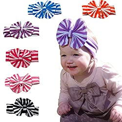 Baby Girl Headbands 6 months+, Soft 'n Stretchy, Comfortable Baby Hair Bows