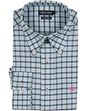 Men's Idlewild Performance Gingham Shirt, Slate/Mint, Medium