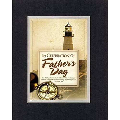 In Celebration of Father's Day - Proverbs 19:8. . . 8 x 10 Inches Biblical/Religious Verses set in Double Beveled Sales