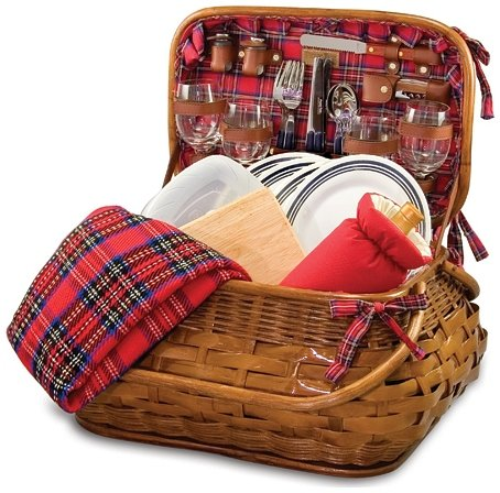 Highlander Bamboo and Rattan - Deluxe Beach Picnic Time Bag