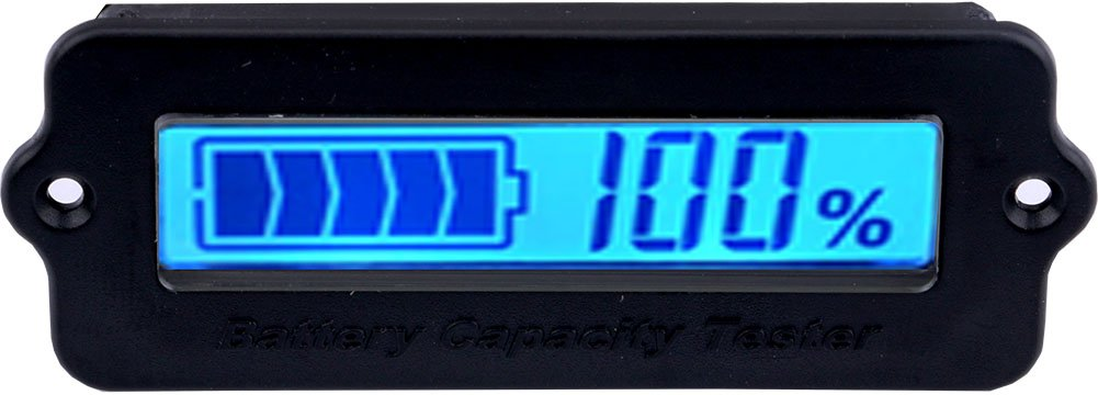 Yeeco LCD-Digital-Batterie-Kapazitä ts-Monitor DC 8-63V Lithium-Batterie-Kapazitä t Tester Elektrischer Quantitä ts-Detektor, 12V / 24V / 36V / 48V Blei-Sä ure-Batterie-Verkleidungs-Messinstrument A1700107EU