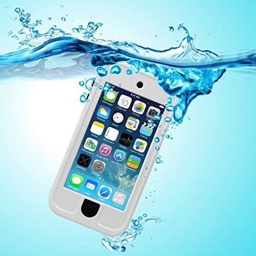 PARLT Waterproof Full-Body Sealed Case with Kickstand for Apple Ipod Touch 5th/6th Generation - White - Easy Ipod
