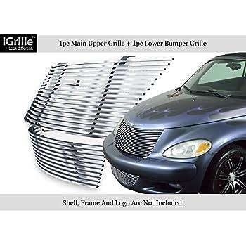 APS 304 Stainless Steel Billet Grille Combo Fits 00-05 Chrysler PT Cruiser #N19-C92778R