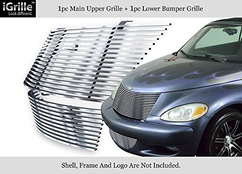 304 Stainless Steel Billet Grille Grill Combo Fits 00-05 Chrysler PT Cruiser #N19-C92778R (Pt Billet Cruiser Grill)