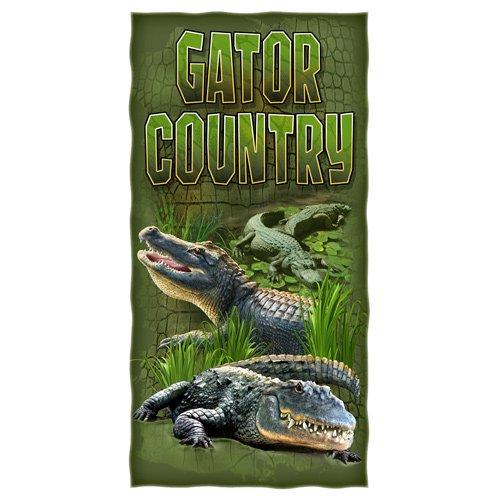 Gator Country Alligator Cotton Beach Towel