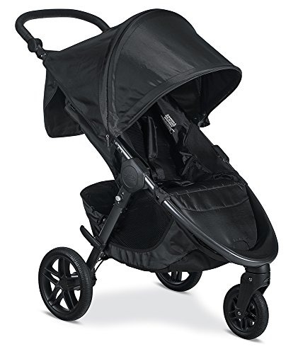 Britax B-Free Stroller – Up to 65 pounds – Car Seat Compatible – UV 50+ Canopy – Adjustable Handlebar – Easy Fold, Cool Flow Ventilating Fabric, Grey