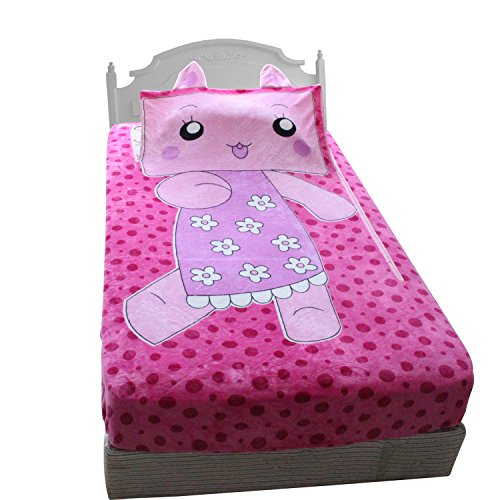 Candygirl Zippy Rabbit Sack Blanket Twin Size Soft Flannel