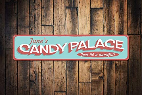 - Candy Palace Sign, Candy Lover Gift, Sweet Shop Store Sign, Custom Beach Boardwalk Sign, Metal Beach Decor,Metal Sign, 4