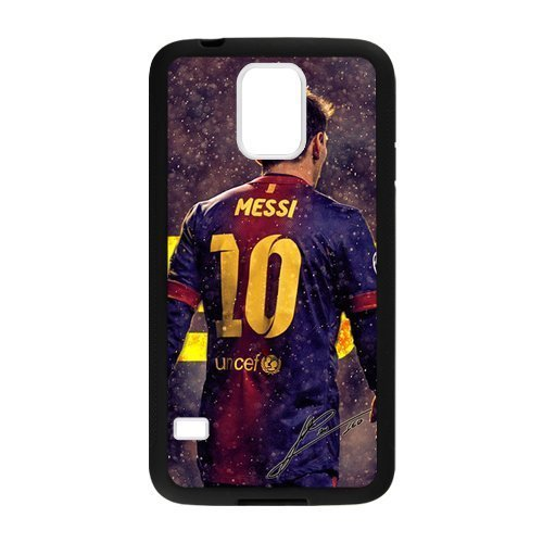 Messi Samsung Galaxy S5 Case Popular Barcelona FC Messi Protective Phone Case (Laser (Soccer Galaxy S3 Case)