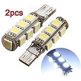 2x T10 194 W5W 13 LED 5050 SMD Canbus SANS ERREUR Anti ODB Blanc Lampe Veilleuse lumiere voiture