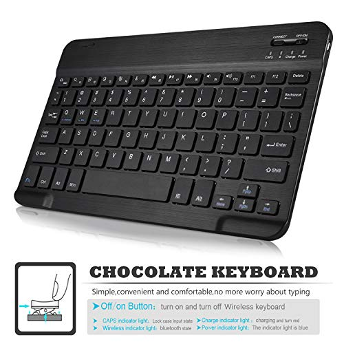 IVSO Keyboard Case for Samsung Galaxy Tab S4 10.5 SM-T835 -Detachable Wireless Keyboard Front Prop Stand Case for Samsung Galaxy Tab S4 SM-T830 Wi-Fi SM-T835 4G LTE 10.5inch Tablet (Black)