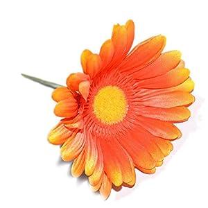 FatColo(R) 10 pcs Silk Artificial Fake Plastic Daisy Chrysanthemum Flowers Sun Chrysanthemum,Sunflower, Simulation Gerber, Dimorphotheca,Party Room Home Decoration DIY Flower Bouquet 2