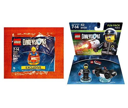 Supergirl Exclusive Polybag + The Lego Movie Bad Cop Fun Pack - LEGO Dimensions - Not Machine Specific
