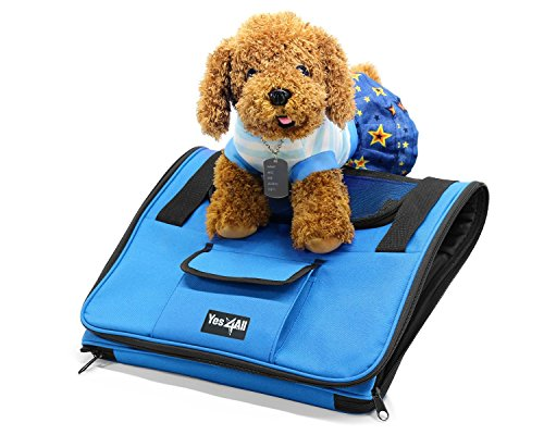 Yes4All Best Pet Booster Seat for Cars, Trucks and SUVs / High Quality Pet Carriers Bag for Dog or Cat