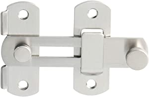 Alise SUS304 Stainless Steel Gate Latches Pet Door Latch Bolt Lock Heavy Duty Flip Latch 2.5mm-Thick,MS9500-LS Brushed Nickel
