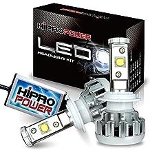 Hipro Power CREE MK-R H7 LED Headlight Kit - H7 - 60W 6,400LMS 6000K Diamond White for Low Beam (Silver) - 2 Yr Warranty