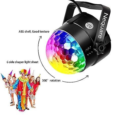 Amazon.com: NEQUARE luces de fiesta activadas por sonido ...