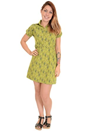 6451f18231a3 Run & Fly Damen Kleid grün Goldfarben/Olivgrün: Amazon.de: Bekleidung