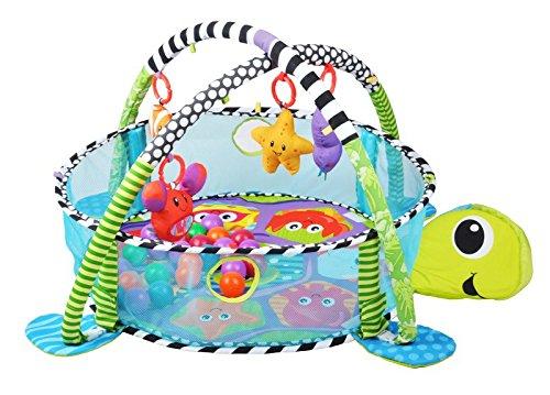 Krabbeldecke Spieldecke Spielbogen Spielmatte Babydecke Laufstall 3 in 1 #1353