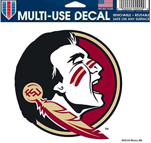 Ncaa Ultra Decal (NCAA Florida State Seminoles (FSU) 4.5'' x 6'' Ultra Decal Cling)