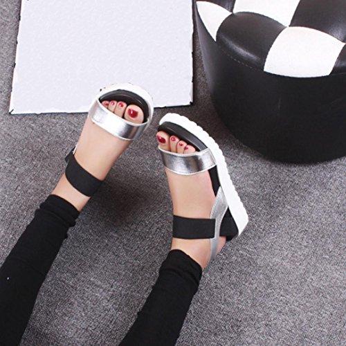 Zapatos Playa Zapatillas de Sandalias de Plata Para Casual Planas Yesmile de Zapatos de y Sandalias Fiesta Verano Sandalias de Boda Mujer Mujer Cuero Para Envejecidas Moda HxSZBUn