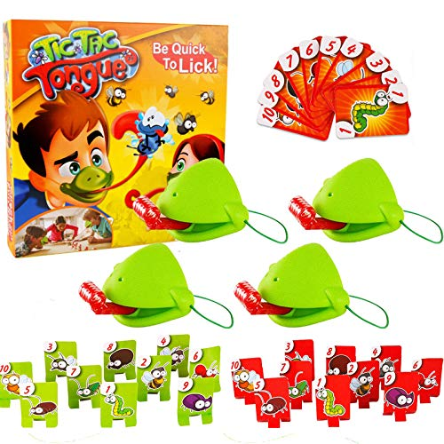 CJCGLOBAL Tic Tac Tongue Game - Catch Bugs Game Family Board Game Joint Take Card-Eat Pest Car Double Game Desktop Board Games for Family Gatherings, Christmas Birthday Gifts