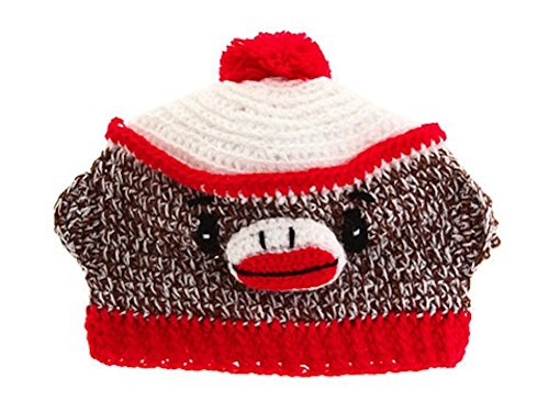 San Diego Hat Company Infant Sock Monkey Beanie 6-12 Months ()