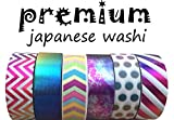 Washi Tape By L'artisant - Premium Quality Set of 6 Amazing Rolls.(Soap Bubble)