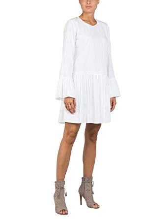 Replay W9435 .000.82736, Robe Femme, (Optical White 1), Large