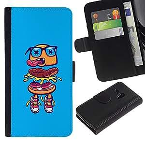 iBinBang / Flip Funda de Cuero Case Cover - Gafas comida rápida de la calle - Samsung Galaxy S3 MINI NOT REGULAR! I8190 I8190N
