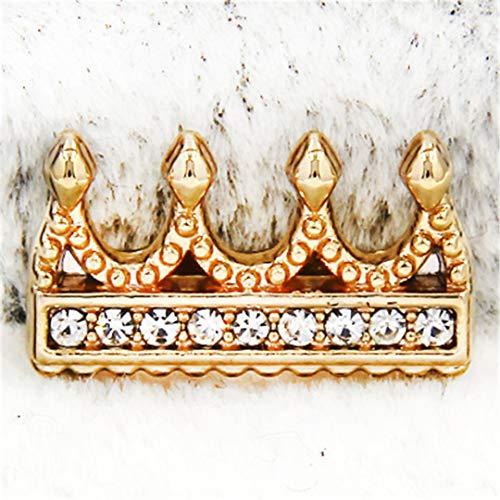 FOMBZQGDKUZ Sliders Jewelry Crystal Stars Crown Medical Cross Pineapple Football Soccer Slide Charms Keeper for Mesh Bracelets Crown Gold ()