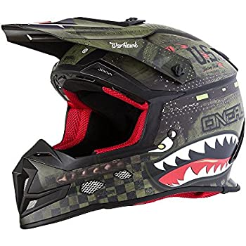 ONeal 5 SRS Mens Off-Road War Hawk Helmet (Black/Green, Large)