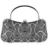 MG Collection Marya Metallic Woven Minaudiere Evening Bag