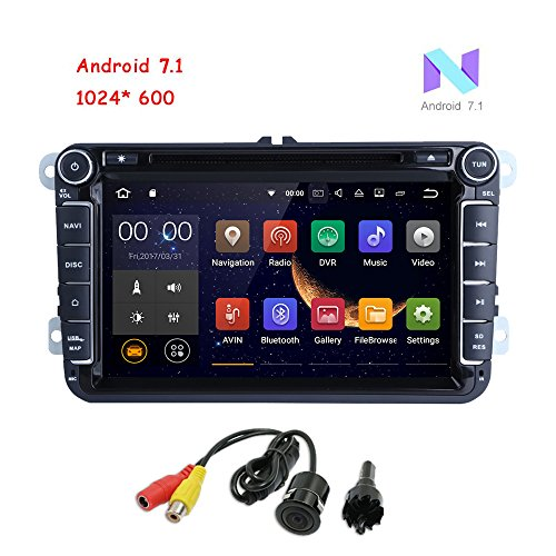 MCWAUTO Android 7.1 Double Din 8 Inch Car DVD Player for for VW Golf Polo Passat Tiguan Jetta Wifi Model with Built-in Canbus Support GPS, FM AM RDS, Bluetooth, SWC, - Polo Canada Online