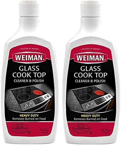 Weiman Glass Cook Top Cleaner and Polish -20 Ounce [2 Pack] Heavy Duty No Scratch Glass Ceramic Safe Non-Abrasive Stovetop Cooktop Cleaner