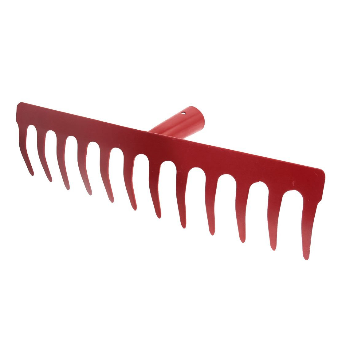 SODIAL(R) Metal 12 Tine Hand Cultivator Rake Tool Head Red