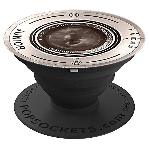 Old Vintage Camera Zoom Lens Design Phone Grip - PopSockets Grip and Stand for Phones and Tablets