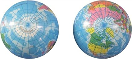 Amazon Com 2 Pieces World 4 Inch Earth Map Squeeze Toy Globe Ball