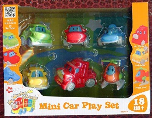 Set amp; Wheeler Mr Car Friends 6 Play Cars By Navystar Mini wZ5q5Y