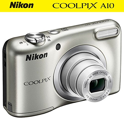 Nikon COOLPIX A10 16.1MP 5x Zoom NIKKOR Glass Lens Digital Camera (26518B) Silver - (Certified Refurbished) by Nikon